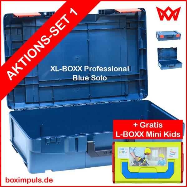 XL-BOXX Solo Professional Blue + Gratis L-BOXX Mini Kids  AKTIONS-SOMMER