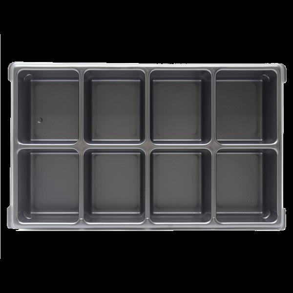 XL-BOXX Kleinteileeinsatz (Tiefzieheinlage) 8 Mulden/Fächer