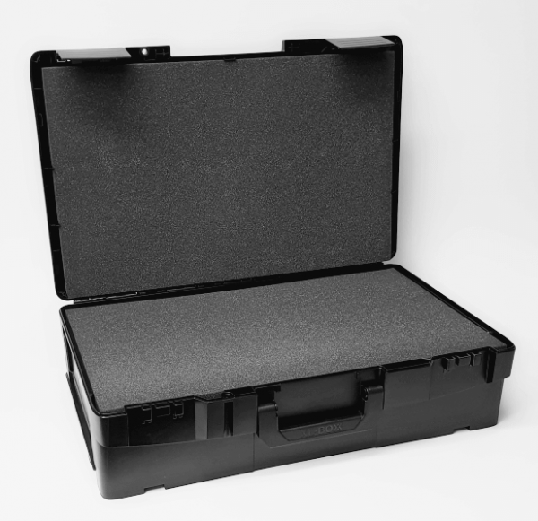 XL-BOXX Schwarz/Anthrazit + Deckel- und Korpus-Schaumstoffeinlage Protect 1011 (4-teilig)
