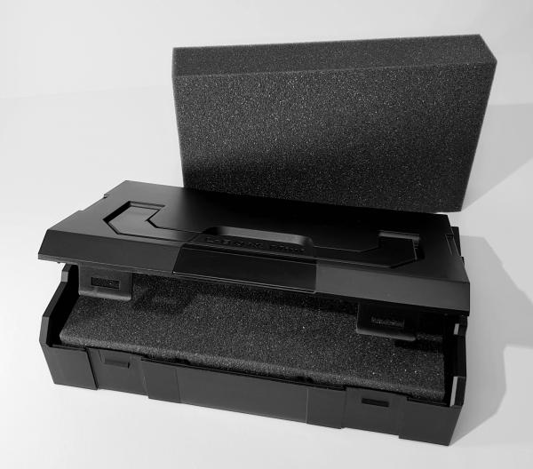 L-BOXX Mini Schwarz + Trennstegen (Industrial Line Standard) + Schaumstoffeinlage Protect 1021