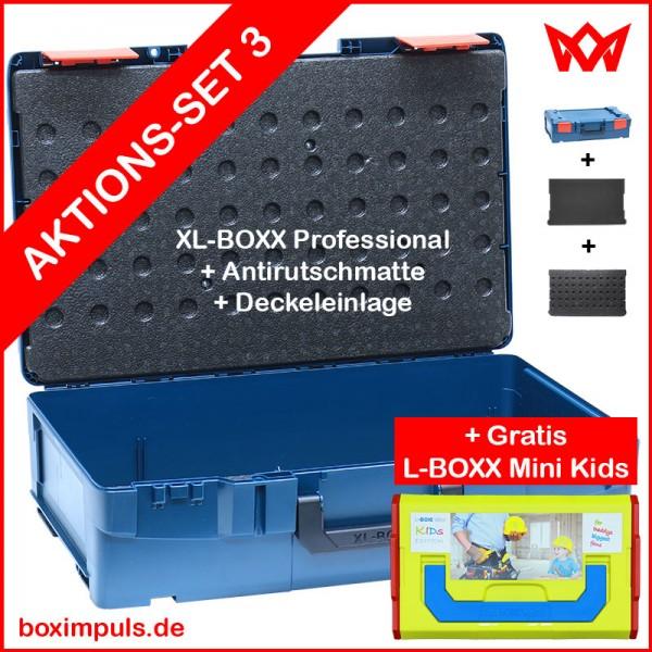 XL-BOXX Professional Blue + Deckeleinlage/Antirutschmatte + Gratis L-BOXX Mini Kids  AKTIONS-SOMMER
