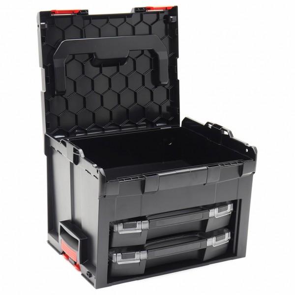 LS-BOXX 306 inkl. 2 x i-BOXX + Insetboxenset H3/I3 Schwarz/Rot online kaufen