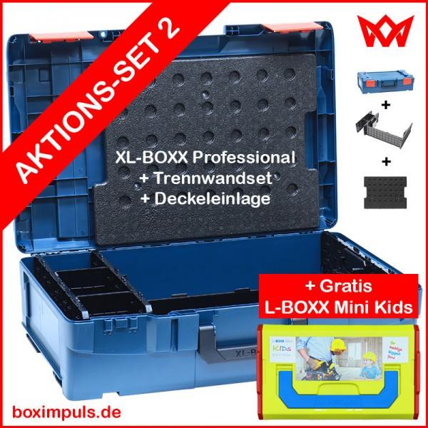 XL-BOXX Prof. Blue + Deckeleinlage/Trennwandset + Gratis L-BOXX Mini Kids  AKTIONS-SOMMER