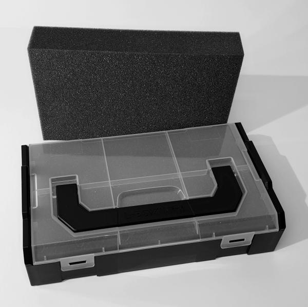 L-BOXX Mini Schwarz - Deckel transparent mit Schaumstoffeinlage Protect 1021 und Trennstegen online kaufen