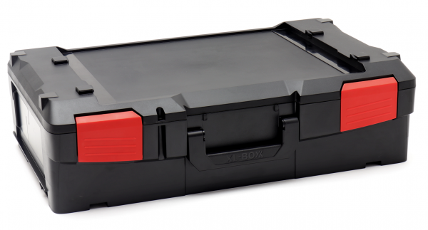 XL-BOXX Solo Schwarz mit roten Verschlüssen